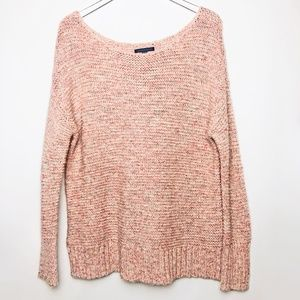 American Eagle Outfitters | Pink Crochet Sweater M